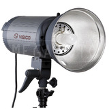 Flash Estudio Visico 600 W C/ Reflector Receptor Incorporado