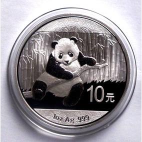 Moneda 2014 Panda 10 Yuan De China .999 Plata Pura 1 Oz Troy