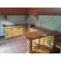 Muebles Madera Cipres, Bajomesada, Alacena, Barra