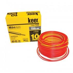 Rollo De Cable Thw Calibre 10 Awg Rojo