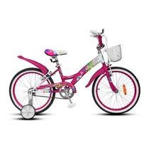 Bicicleta Rodado 16 De Nena Aurora 16 Flower Lady Rosa