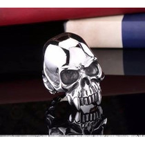 Anel Caveira Crânio Aço Inoxidável 316l Rock Punk