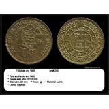 Yh Antigua Moneda Un Sol De Oro1965 Cuatricentenario Cambio