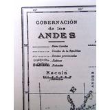 Plano Original 1930 Gobernacion De Los Andes Mapa