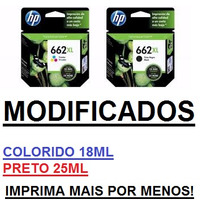 Hp 662xl Preto + Hp 662xl Color 1516, 3516 Ink Advange