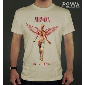 Remera Hombre Estampada 100% Algodón Nirvana