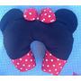 Almofada Pescoço Minnie Mickey Menina Para Criança Laço