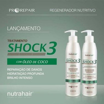 Kit Shock3 (300ml) Coco Nutra Hair * Regenerador Capilar *