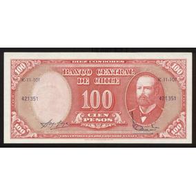 Chile Billete 10 Centesimos De Escudo On 100 Pesos 1960 S/c