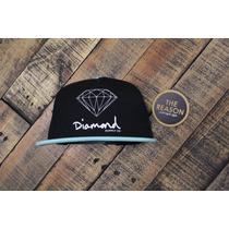 Gorra Diamond Supply O G Logo Snapback Negra The Reason