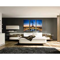 Triptico Bastidor Torre Eiffel 150x100 En Lienzo