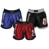 Kit3 Bermudas Short Masculina Muay Thai Luta Treino Promoção