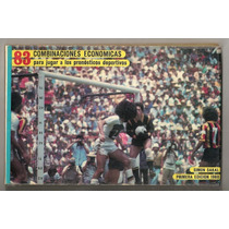Libro Futbol México Pronósticos Deportivos Simón Sakal 1980