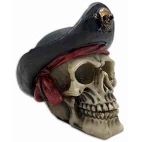 Crânio Caveira Esqueleto Halloween Resina Decorativa Bandana