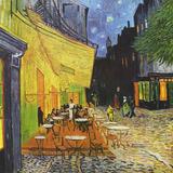 Quadro Van Gogh Terraço Café Placa Sala Quarto Famoso T115