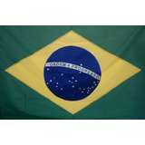 Bandeira Brasil Oficial Bordada 1,12 X 1,60 -2,5 Panos Ilhos