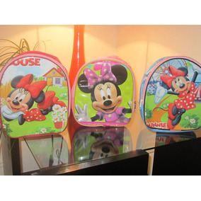 Lote 10 Mochilas Dulceros Minnie Mouse Mimi Recuerdo Fiesta