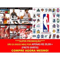 Nba 2014 - 2015 Para Playstation 2 (kit 6 Jogos Ps2 Nba 2k15