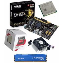 Kit Asus Am1m-a/br + Amd Athlon 5350 Quad Core + 4gb Hiperx
