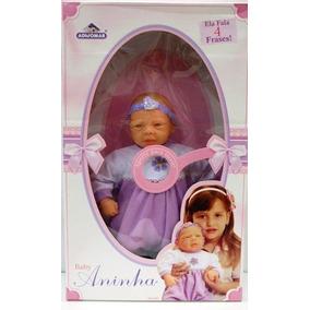 Boneca Bebê Aninha 4 Frases Lilas