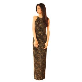Vestido Jolie Largo Elastizado, Espalda Descubierta, V-0018