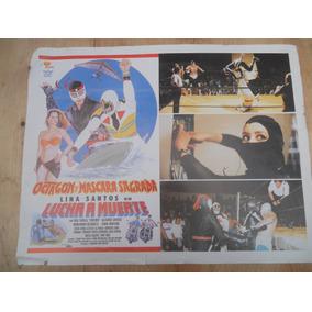 Octagon Y Máscara Sagrada; Cartel De Cine Lucha A Muerte