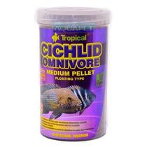 Ração P/ Peixe Cichlid Omnivore Medium Pellet 180g Tropical