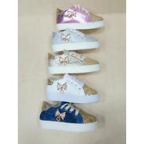 Zapatos De Niña Escarchados En Diferentes Colores