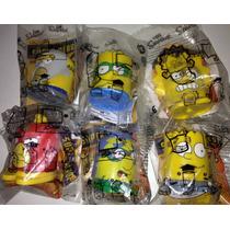 Simpsons Set 6 Figuras Super Heroes Burger King 2013 Hm4