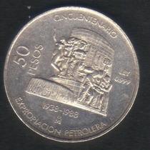 50 Pesos 1988 Plata .999 México Muy Escasa Tipo 1/2 Onza Hm4