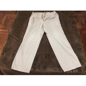 Pantalon De Gabardina Pinzado Tabla Verde