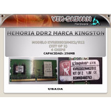 Memoria Ddr2 Kingston De 256mb Pc2-4200 533mhz 4 Chips 26