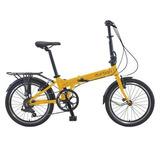 Bicicleta Dobrável 7 Marchas Amarela - Bay - Durban