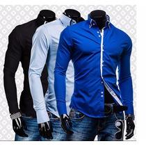 Camisa Slim Social Masculina Lançamento 2017