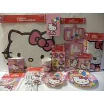 Hello Kitty Fiestas Kit Mantel Vasos Platos Invitaciones