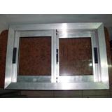 Ventana De Aluminio Natural Con Vidrios Lista Para Colocar!!