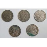 5 Monedas De Colección De 50 Centavos Del Año 1979 Al 1983