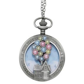Disney Pixar Up Reloj De Bolsillo / Collar Casa Con Globos