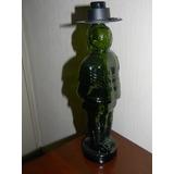 2 Botellas Vidrio Verde Con Forma De Huaso