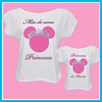 Kit Blusa Tal Mãe Tal Filha Princesas, Camisetas Femininas