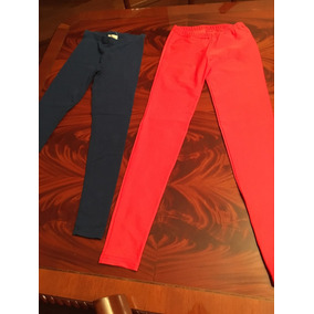 Lote 2 Calzas Azul/naranja-1 Importada-como Nuevas! 12 Años