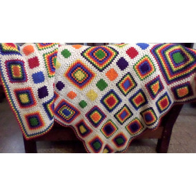 ceaf9d65a Colcha Crochet Colorida Nueva - Colchas y Cubrecamas Otros en ...