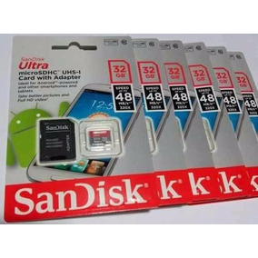 Cartão Micro Sd 32gb Sandisk 100% Original Classe 10 48mb