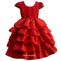 Vestido Festa Infantil Turma Da Mônica 1 A 12 Anos Com Tiara