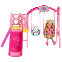 Barbie Hermanas Chelsea Swing Set - Rosado