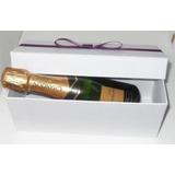 Caixa Tradicional Mini Espumante/vinho Com Laço