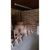 4 Sillas De Madera De Pino Plegables Super Reforzada