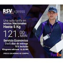 Guias Prepagadas Fedex Económica De 5 Kg Todo Mexico