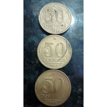 Moedas De 50 Centavos 1954, 1955 E 1956 Presidente Dutra