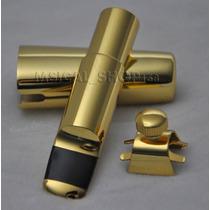 Boquilha De Metal Sax Soprano A-7 Dourada Profissional
